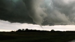 Images of a tornado that touched down in Southwestern Manitoba the evening of Monday, July 27. Sean Schofer ‏- north of Edward, MB