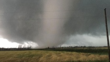 Tornado touches down in southwestern Manitoba