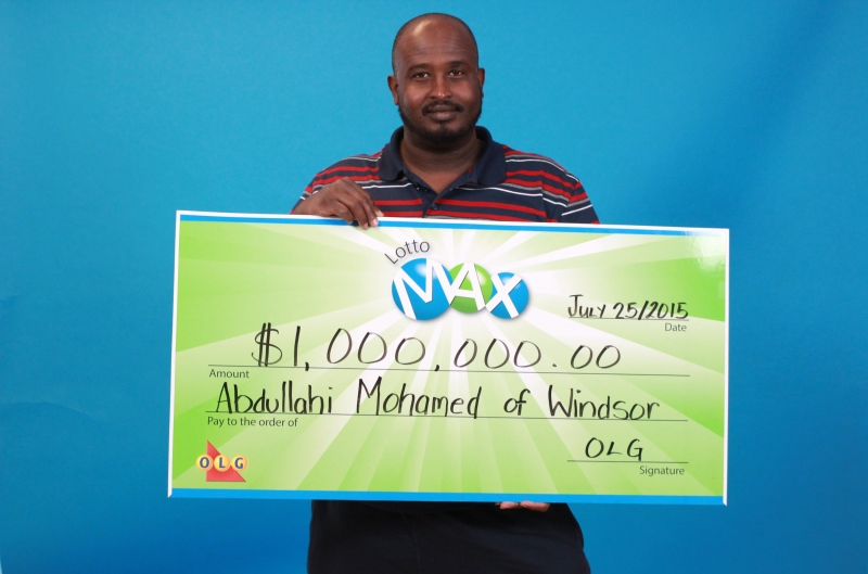 Windsor resident Abdullahi Mohamed won $1 million in the Lotto Max Maxmillions draw. (Courtesy OLG)