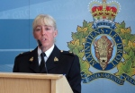 RCMP Insp. Stacey Talbot announces Tuesday, July 28, 2015 at K-Division Headquarters in Edmonton that human remains found southeast of Edmonton in April belong to Corrie Ottenbreit, a sex-trade worker who disappeared more than a decade ago. (THE CANADIAN PRESS / Dean Bennett)