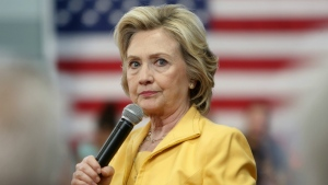 Democratic presidential candidate Hillary Rodham Clinton listens to questions during a campaign stop in Nashua, N.H. on July 28, 2015. (AP / Jim Cole)