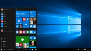 This screen shot provided by Microsoft shows the Start page in Windows 10. (Microsoft via AP)
