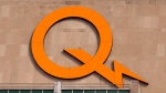 A Hydro Quebec logo is seen on their head office building Thursday, February 26, 2015 in Montreal. The government owned utility announced a net result for 2014 of $3.38 billion.THE CANADIAN PRESS/Ryan Remiorz