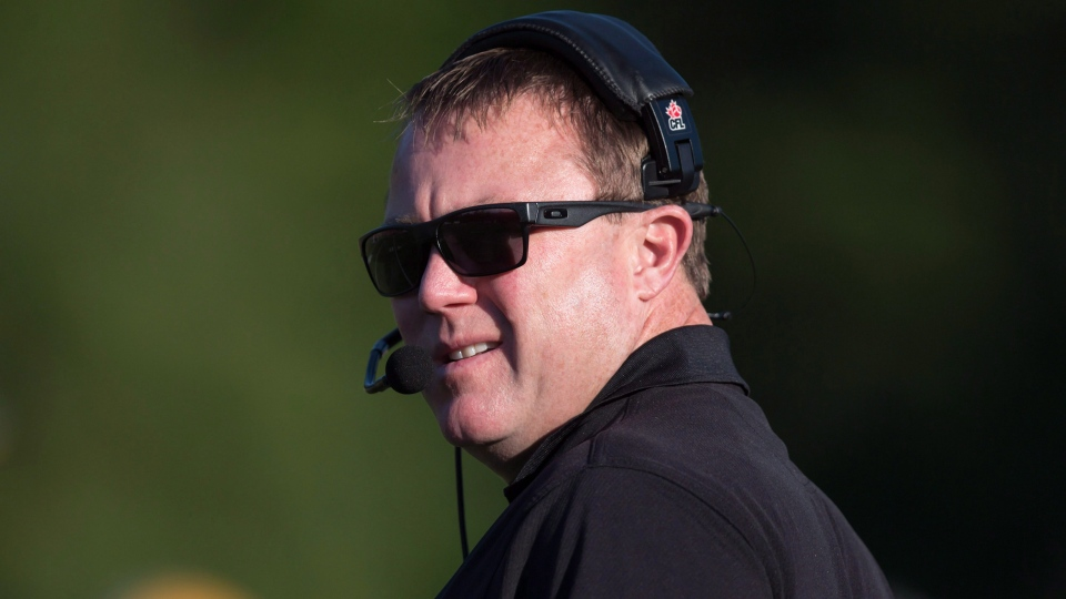 Saskatchewan Roughriders head coach and general manager Chris Jones is seen in this file photo taken Friday, June 19, 2015. (THE CANADIAN PRESS/Darryl Dyck)