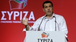 Greek Prime Minister Alexis Tsipras addresses a meeting of his ruling radical left Syriza party's central committee in Athens, on July 30, 2015. (AP / Thanassis Stavrakis)