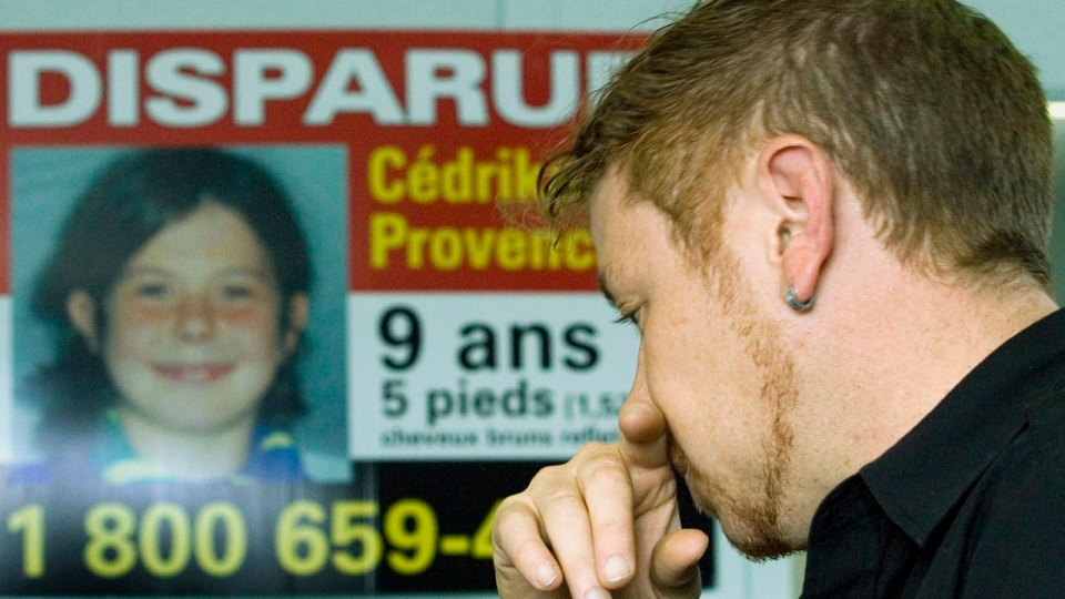 FILE - Martin Provencher speaks to reporters about the disappearance of his daughter, Cedrika, in Trois-Rivieres, Que., Thursday, Sept.6, 2007. (CP PHOTO/Ryan Remiorz)