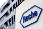 In this Aug. 12, 2005 file picture, the logo of Swiss company Roche is photographed in Basel, Switzerland. (AP/Keystone,/Steffen Schmidt)