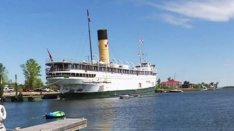 A group of volunteers look to keep the SS Keewatin in its home in Port McNicholl on June 15, 2021 (FILE)