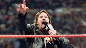 'Rowdy' Roddy Piper is seen engaging the audience in this undated handout photo from the WWE. (WWE / THE CANADIAN PRESS)