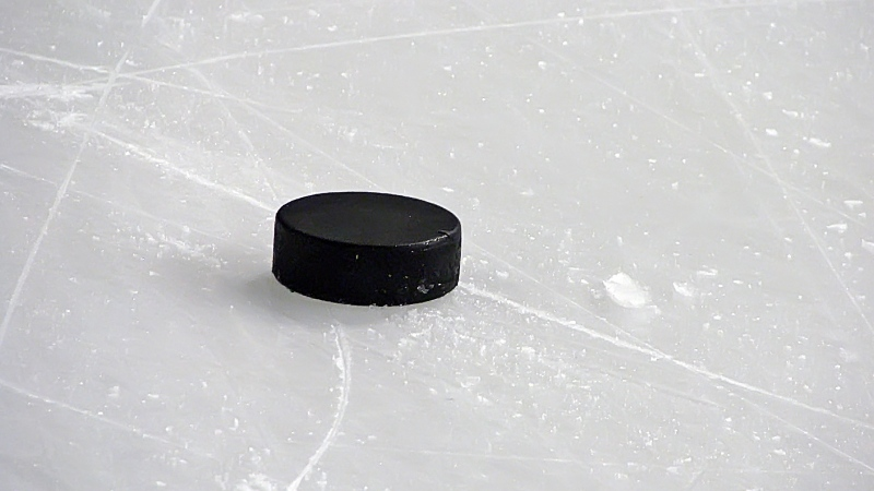 A hockey puck is seen in this undated file photo. Players of colour in the Greater Toronto Hockey League, the world's largest minor hockey league, say they are routinely targeted with verbal insults because of their race​.
