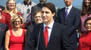 Liberal Leader Justin Trudeau launches his 2015 election campaign in Vancouver, B.C. on Sunday, Aug. 2, 2015.