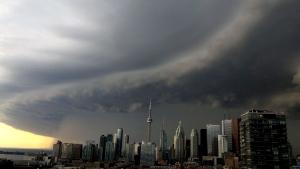 Summer storm in Toronto