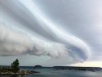 Storm clouds over Georgian Bay, Sunday, Aug. 2, 2015. (Mani Daryabeigy / MyNews)