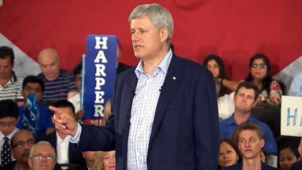 Federal Election 2015: Harper defends record