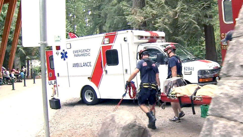 Rescue crews spent much of the long weekend at the canyon, attending to the injured.