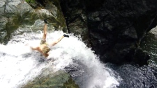 Water clif jumping Vancouver dangers