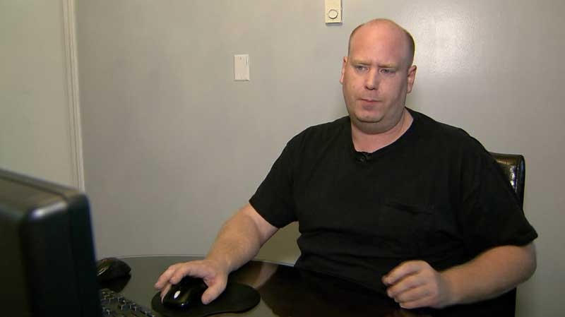 "Langley, B.C. resident Andrew Wilson was the victim of an increasingly common kind of virus known as ""ransomware."" He was told to hand over $500 USD or lose all his computer files. Aug. 5, 2015. (CTV)"