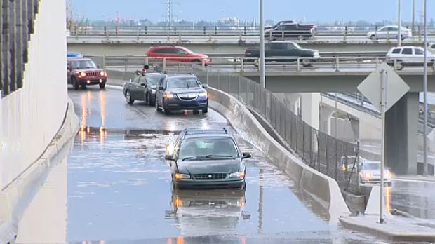 It was the same old story for Calgarians on August 5, 2015, when another big storm rolled through, swamping intersections and ramps that resulted in lots of stranded drivers.
