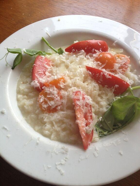 Sungold tomato risotto