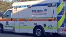 An Essex-Windsor EMS vehicle is seen in Windsor, Ont. (Melissa Nakhavoly / CTV Windsor)