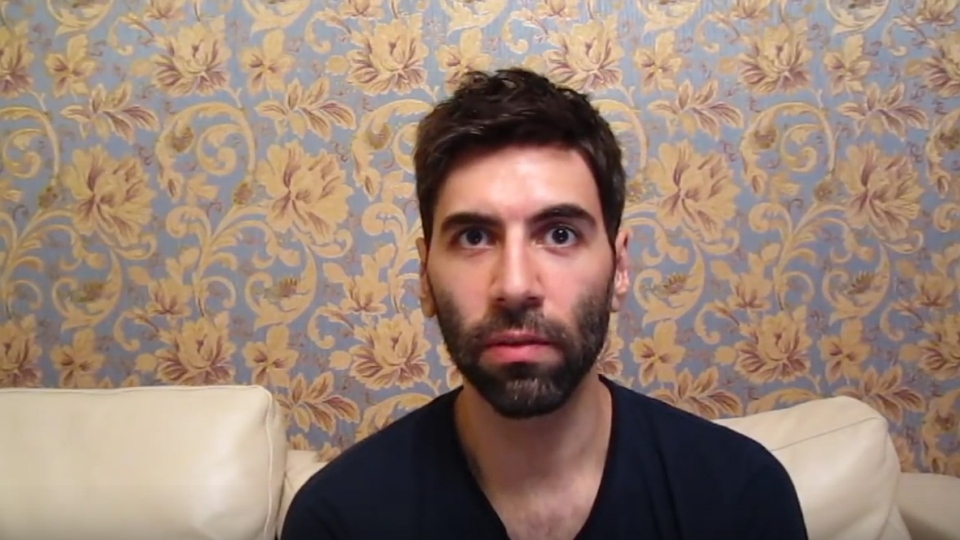 Pick-up artist Daryush Valizadeh is seen in this image from the Roosh V YouTube account.