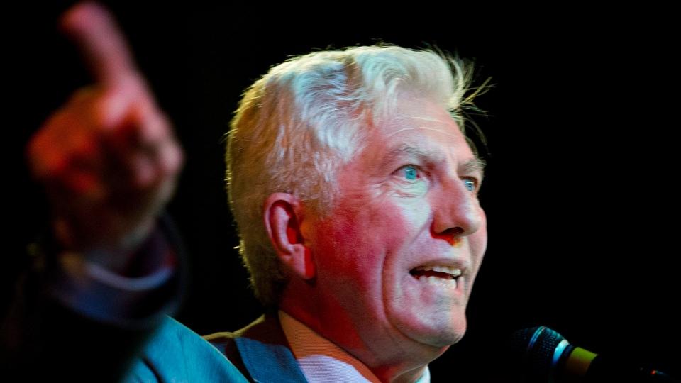 Bloc Quebecois leader Gilles Duceppe speaks