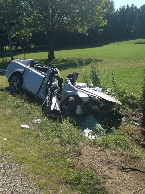 Single vehicle crash on Commissioners Rd E (Celine Moreau 8/9/15)