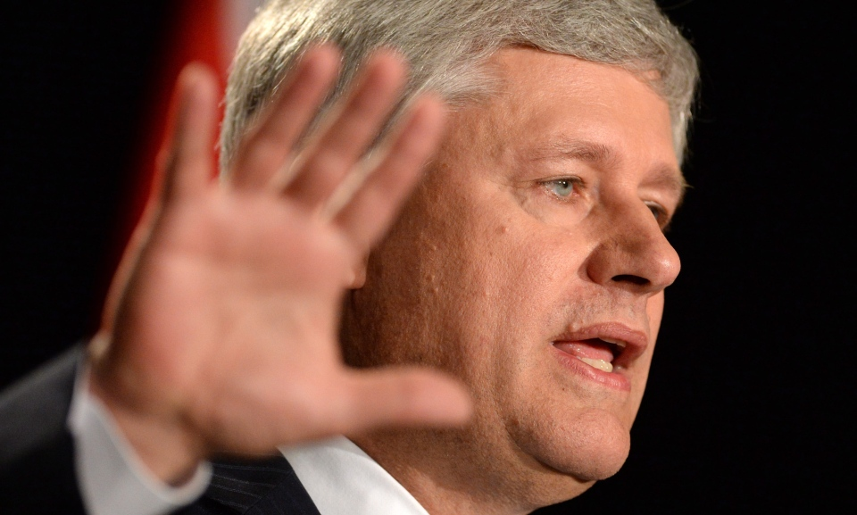 Conservative Leader Stephen Harper makes a campaign stop in Ottawa on Sunday, August 9, 2015. (Sean Kilpatrick / THE CANADIAN PRESS)