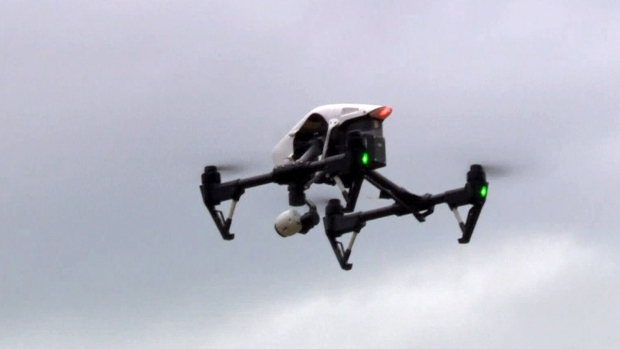Crews test drone during mountain rescue