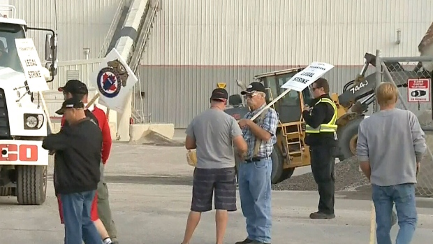 Locked out workers walk the line at BURNCO plant | CTV News