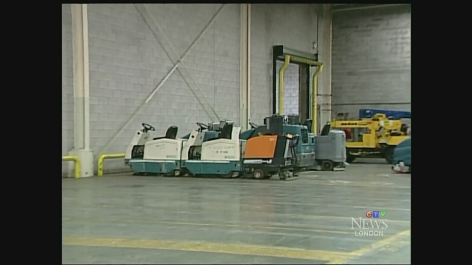 Some of the items that will be auctioned form the former Kellogg's plant in London, Ont. are seen Monday, Aug. 10, 2015. (Daryl Newcombe / CTV London)