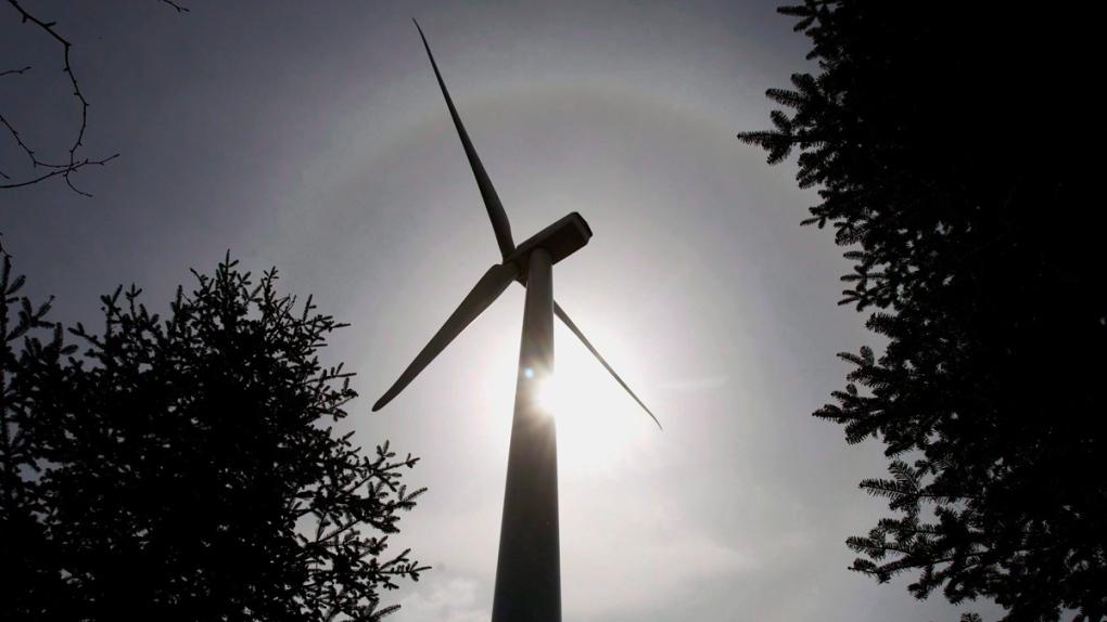 A wind turbine on Dalhousie Mountain, N.S.