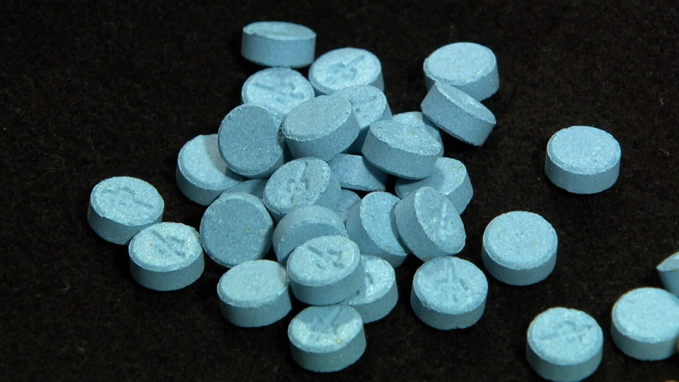 Fentanyl-containing tablets are shown in this undated file photo.