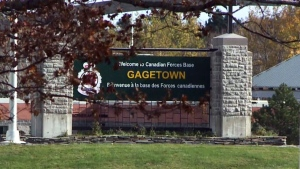 The entrance to CFB Gagetown is seen in this undated file photo. (CTV Atlantic)