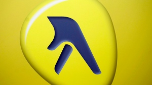 The Yellow Media Inc. logo is shown at the company's quarterly results meeting in Montreal, Thursday, May 6, 2010.(Graham Hughes / The Canadian Press)