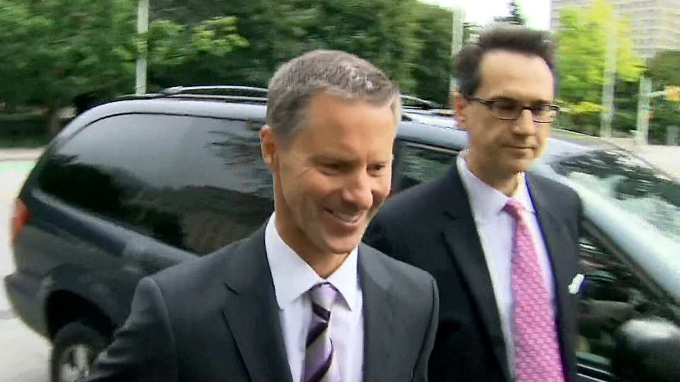 Nigel Wright arrives at the courthouse in Ottawa Wednesday, Aug. 12, 2015.