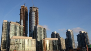 Condo buildings downtown Toronto, Ontario on Jan. 9, 2014. THE CANADIAN PRESS IMAGES/Lars Hagberg