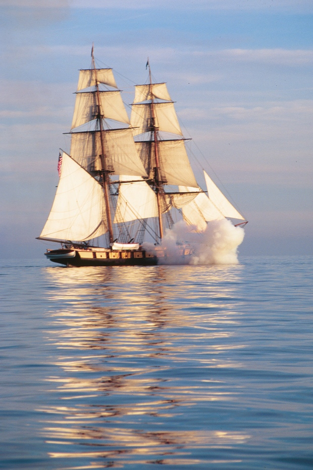 sailing ship fire smoke - photo #21
