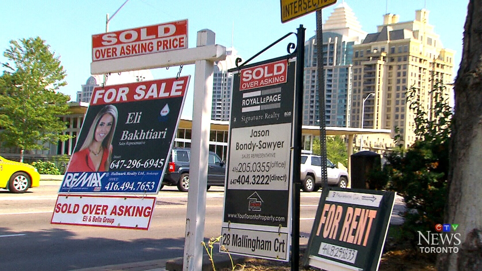 The average price for a home in Toronto jumped 27.8 per cent year over year.