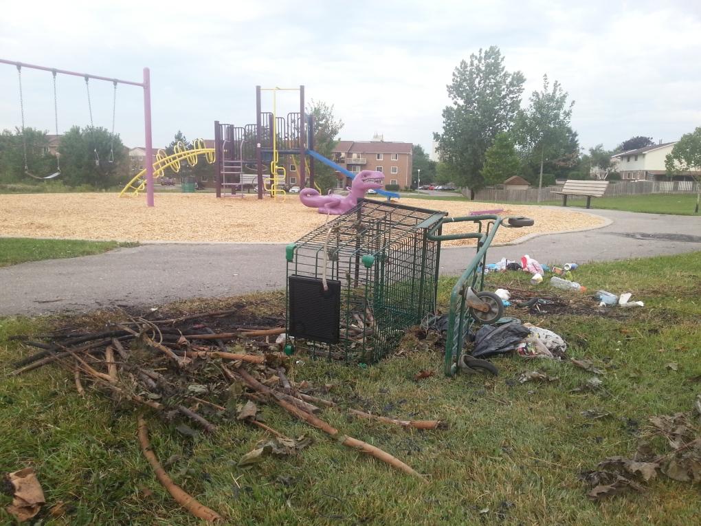 Rick Hansen playground arson