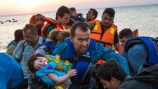 Migrants arrive at Kos, Greece
