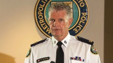 Toronto Police Supt. Ron Taverner speaks at a news conference in Toronto on Friday, Aug. 14, 2015.
