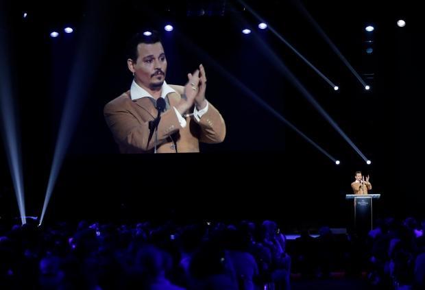 Johnny Depp at Disney convention
