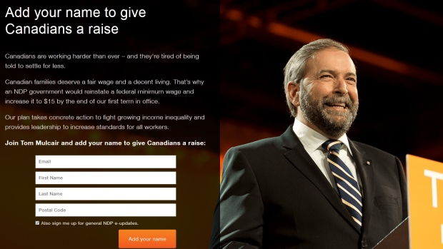 An image from the NDP's website