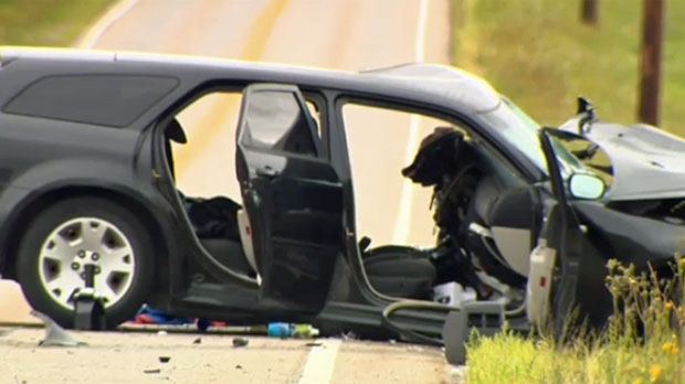 Head-on crash in deep southwest sends two to hospital   CTV News