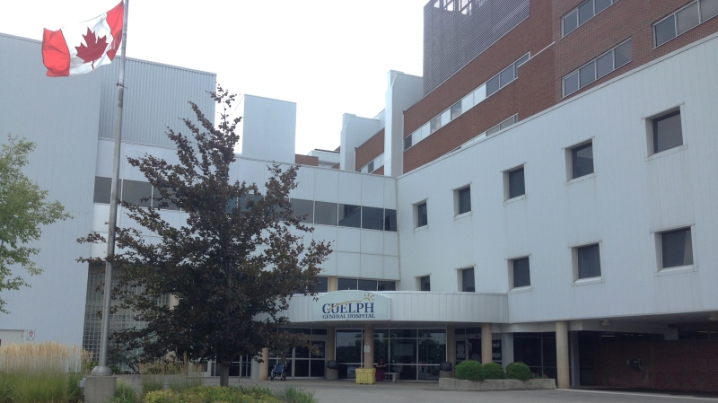 The front entrance to Guelph General Hospital is pictured on Monday, Aug. 17, 2015. (Allison Tanner / CTV Kitchener)