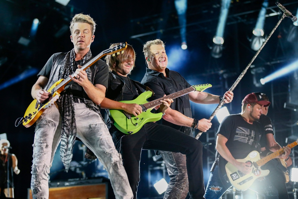 In this June 11, 2015 file photo, Rascal Flatts performs at LP Field at the CMA Music Festival in Nashville, Tenn. (Al Wagner/Invision/AP)