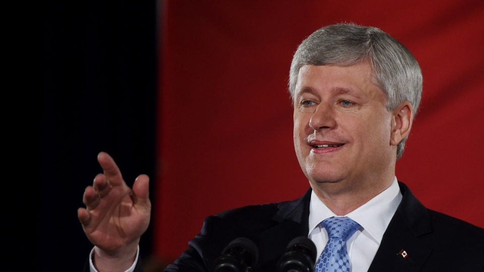 Conservative leader Stephen Harper makes a campaign stop in Toronto on Tuesday, August 18, 2015. (Sean Kilpatrick / THE CANADIAN PRESS)