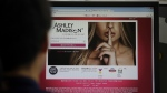 Ashley Madison's Korean web site is seen on a computer screen in Seoul, South Korea on June 10, 2015. (AP / Lee Jin-man)