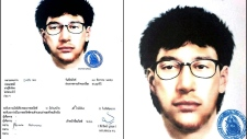 New Thai bombing suspect sketch